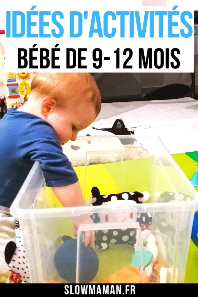 Idées d'activités - bébé de 9-12 mois sur Pinterest