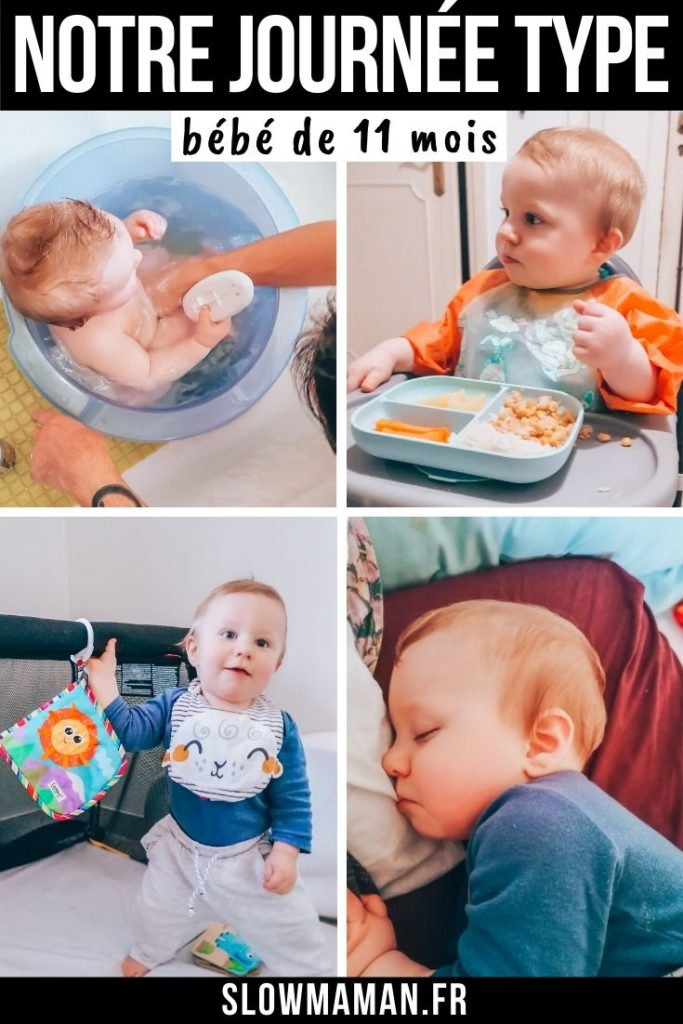 Notre journée type avec un bébé de 11 mois sur Pinterest