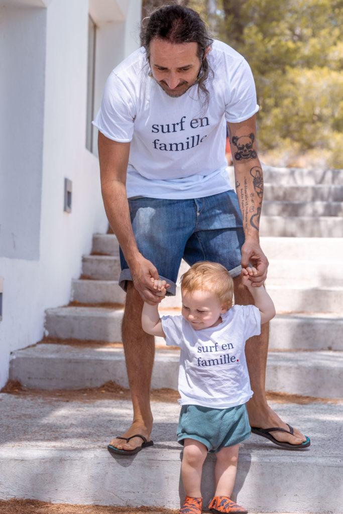papa et bébé en tshirt matchy matchy Emoi Emoi