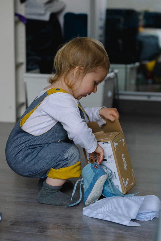 Chaussures souples barefoot pour bébé Wildling Shoes marque allemande