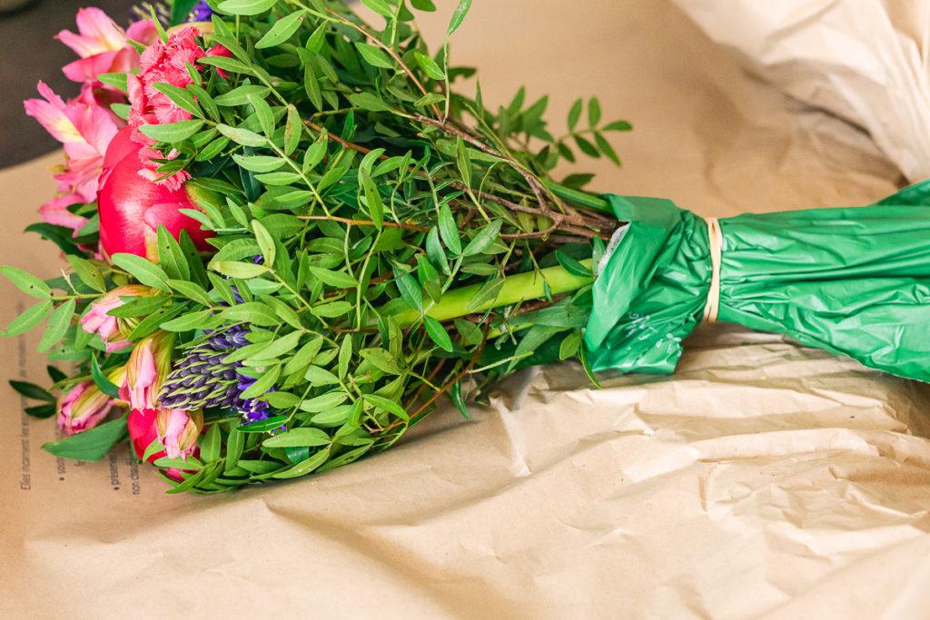 Monsieur Marguerite fleurs livrées et bien emballées