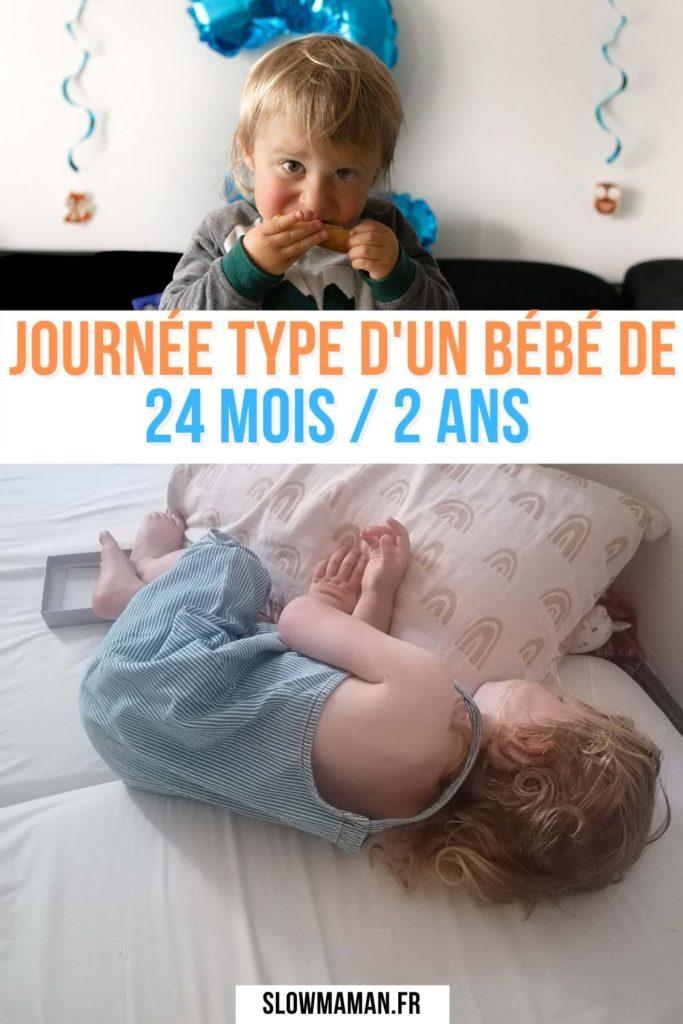 Journée type d'un bébé de 24 mois 2 ans Pinterest