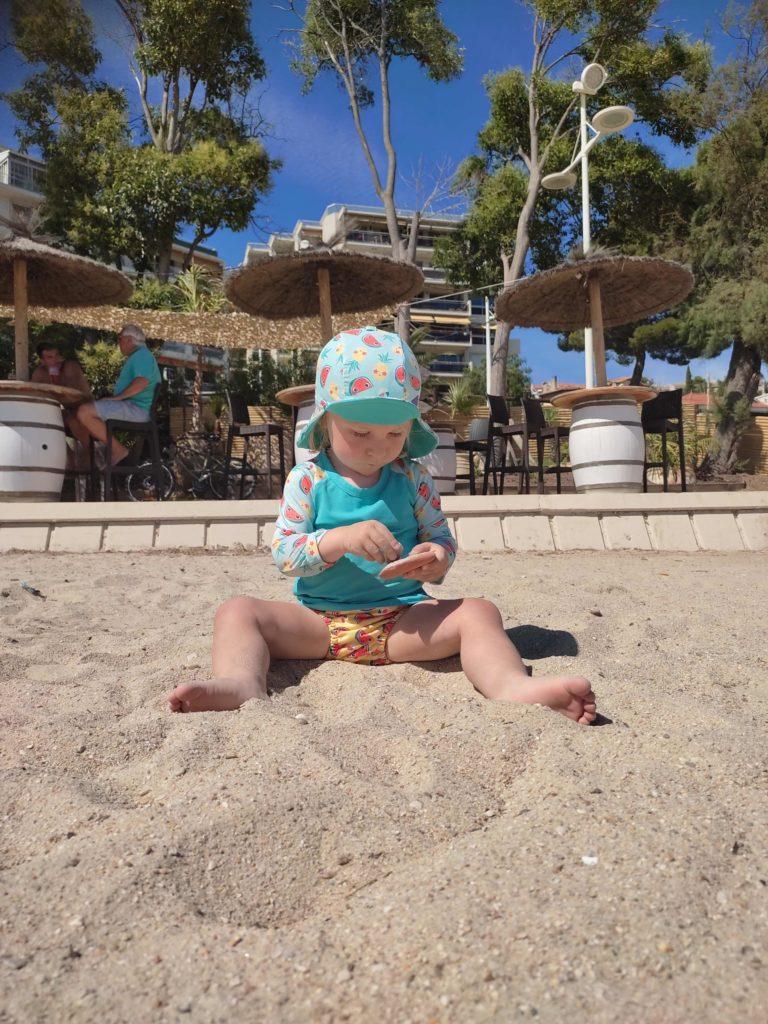bambino mio tenue de plage anti uv et slip de bain lavable pour bébé