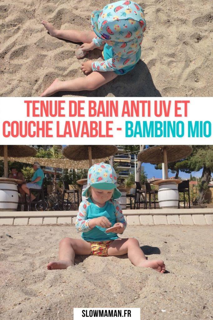 tenue de bain anti uv et couche lavable - bambino mio Pinterest